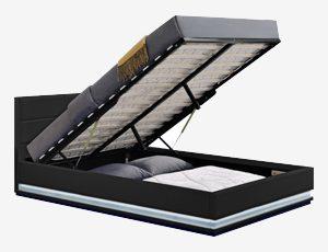 lit coffre avec lumière