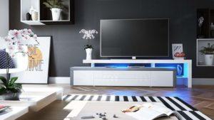 meuble tv led leon